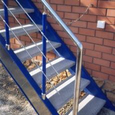 Лестница для улицы нержавейка