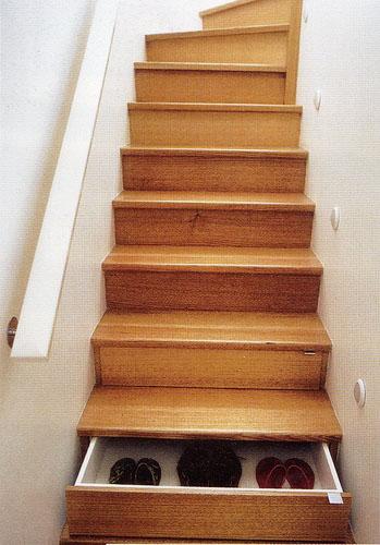 Когда нет места. Лестницы утиный шаг.