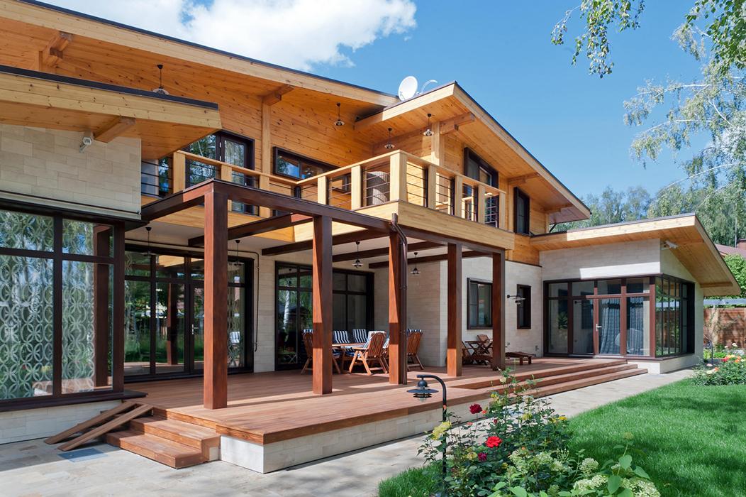 Фото дома с террасой. дизайнерские террасы..