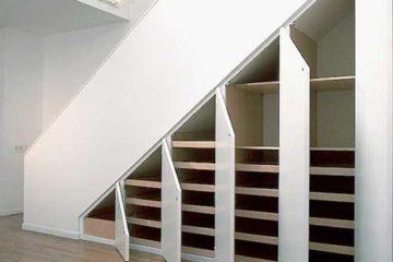 Идеи по обустройству пространства под лестницей